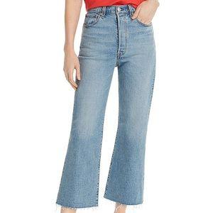 levi's ribcage flare crop jean